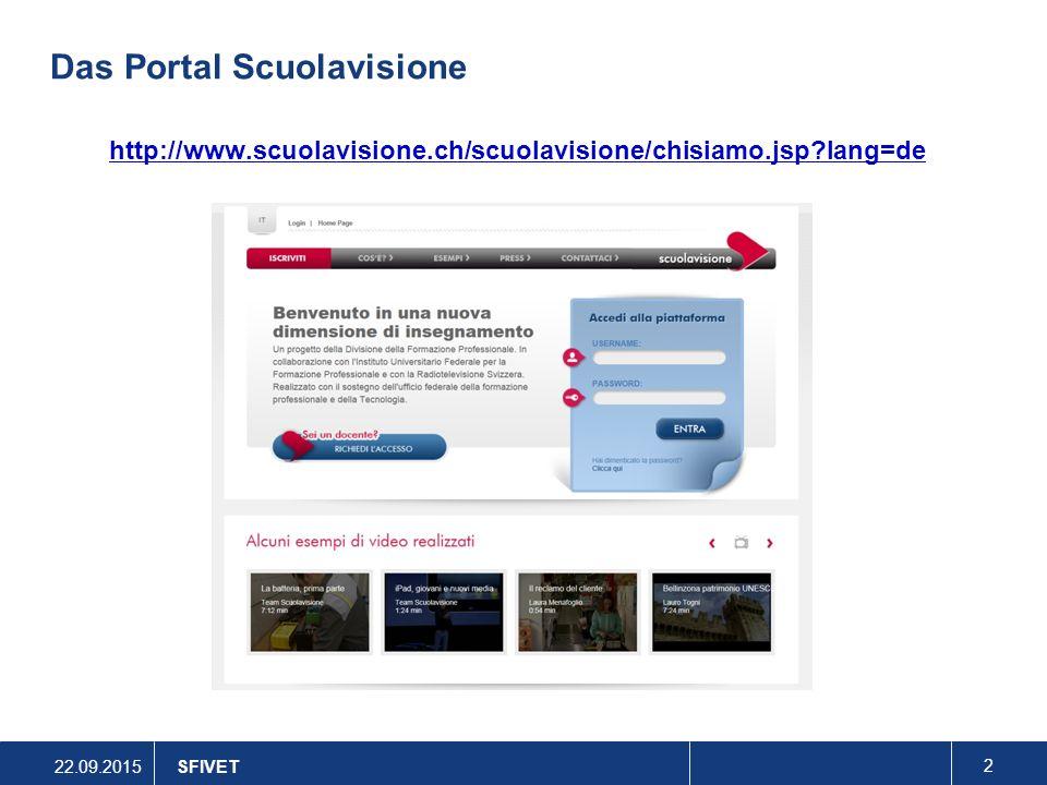 Das Portal Scuolavisione