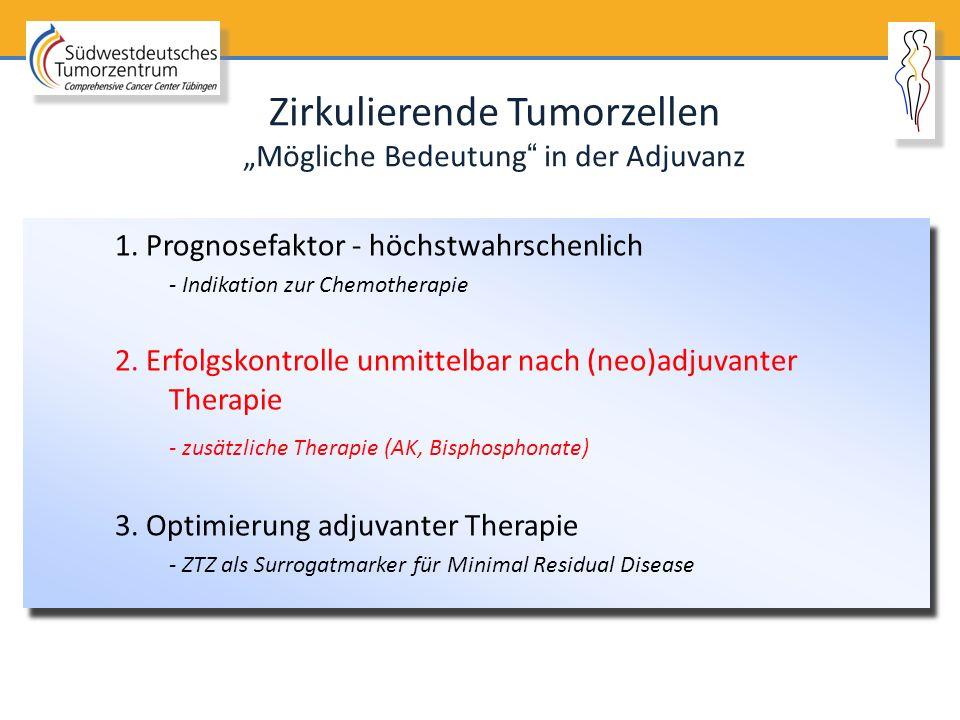 """Zirkulierende Tumorzellen """"Mögliche Bedeutung in der Adjuvanz"""