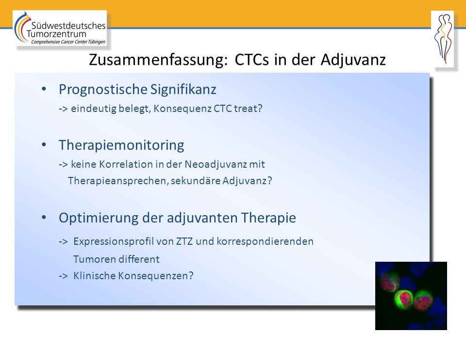 Zusammenfassung: CTCs in der Adjuvanz