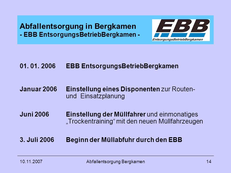 Abfallentsorgung in Bergkamen - EBB EntsorgungsBetriebBergkamen -