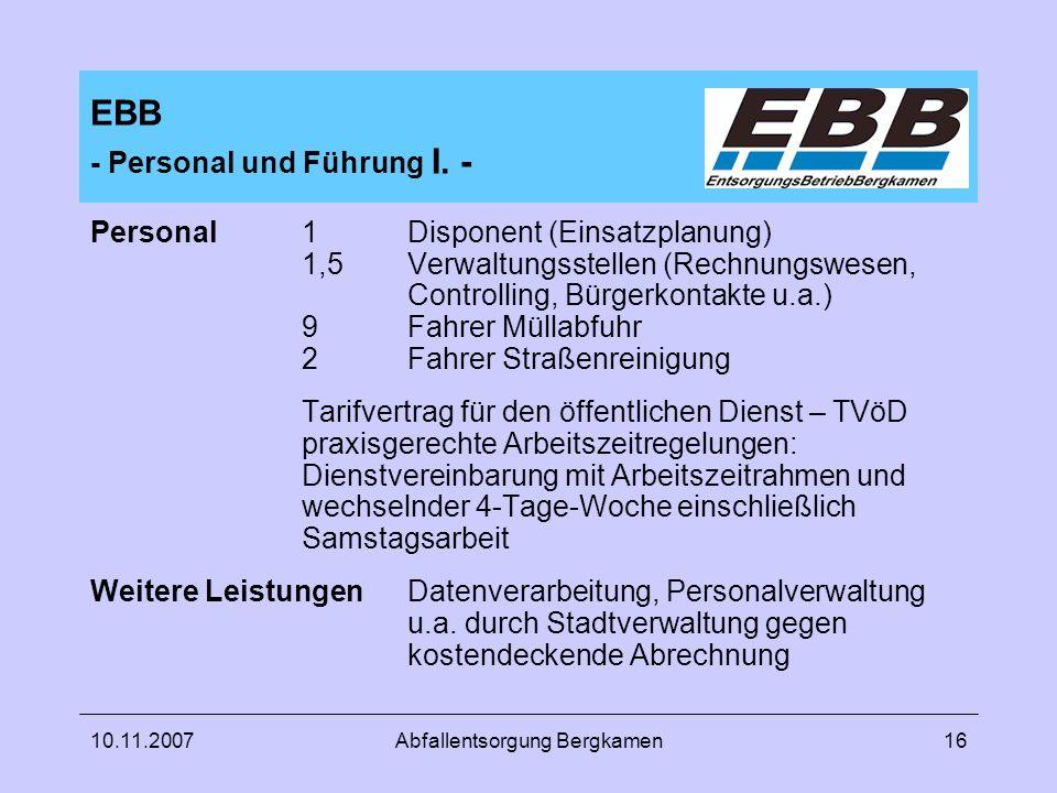 EBB - Personal und Führung I. -
