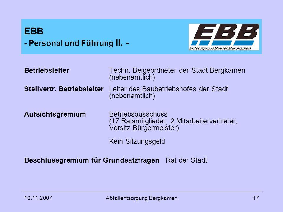 EBB - Personal und Führung II. -