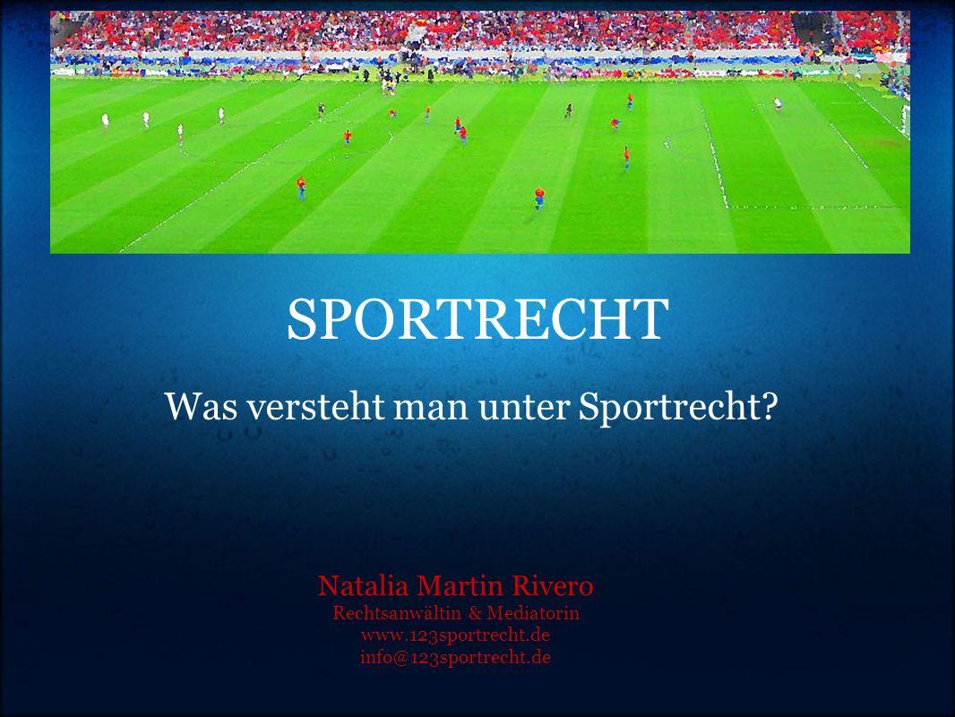 Was versteht man unter Sportrecht