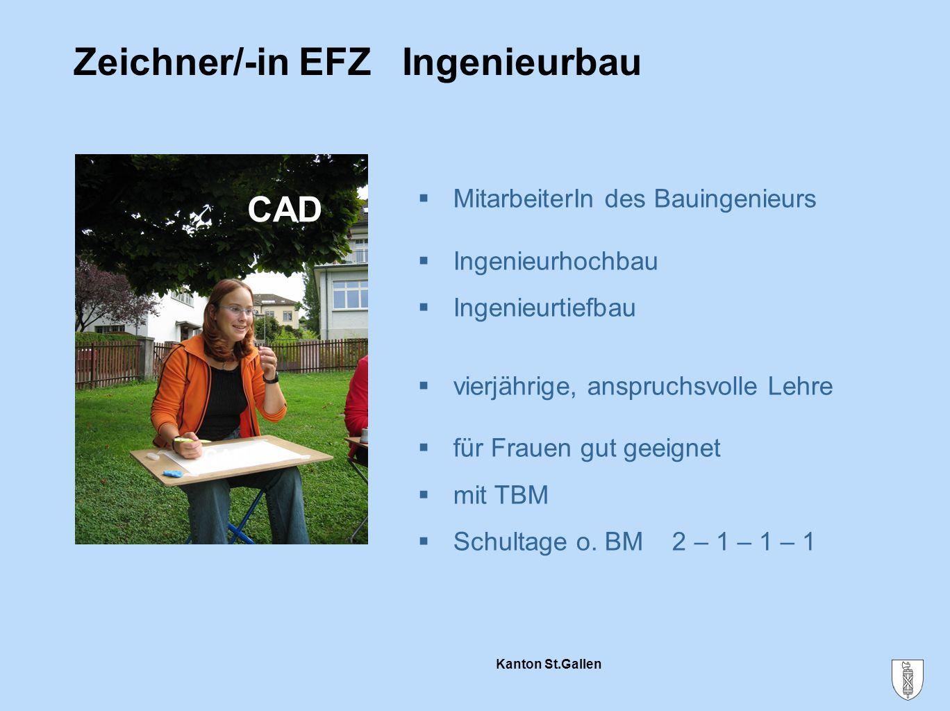 Zeichner/-in EFZ Ingenieurbau