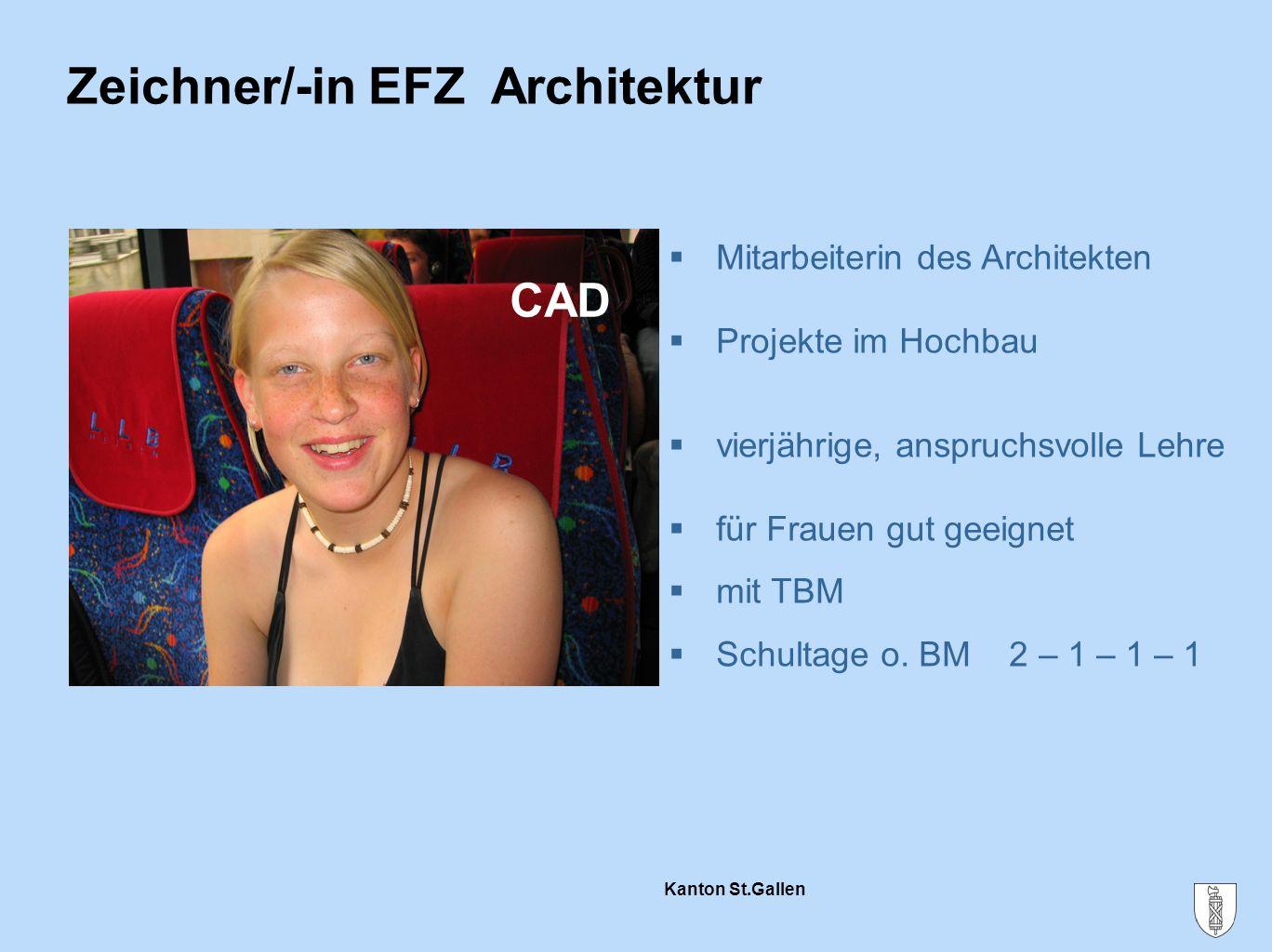 Zeichner/-in EFZ Architektur