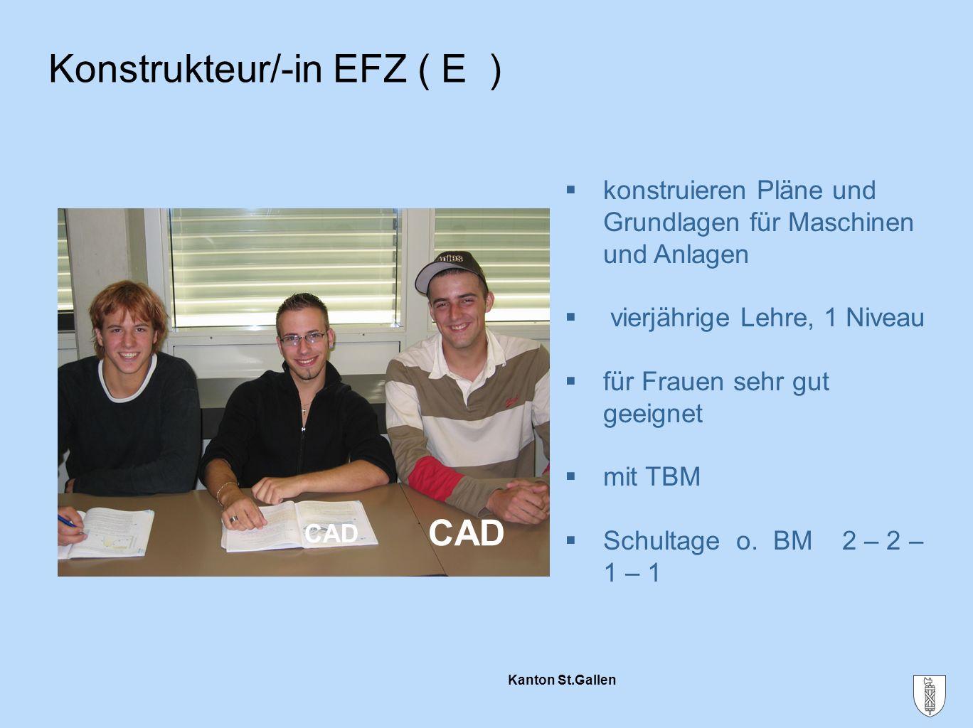 Konstrukteur/-in EFZ ( E )