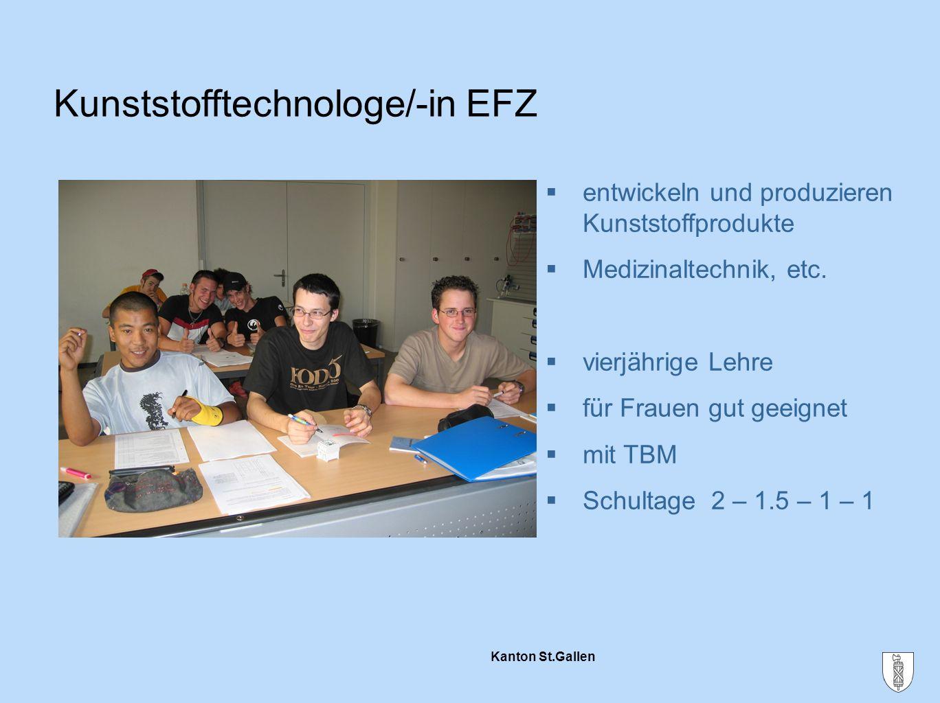 Kunststofftechnologe/-in EFZ