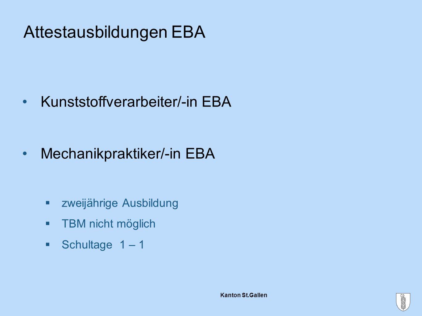 Attestausbildungen EBA