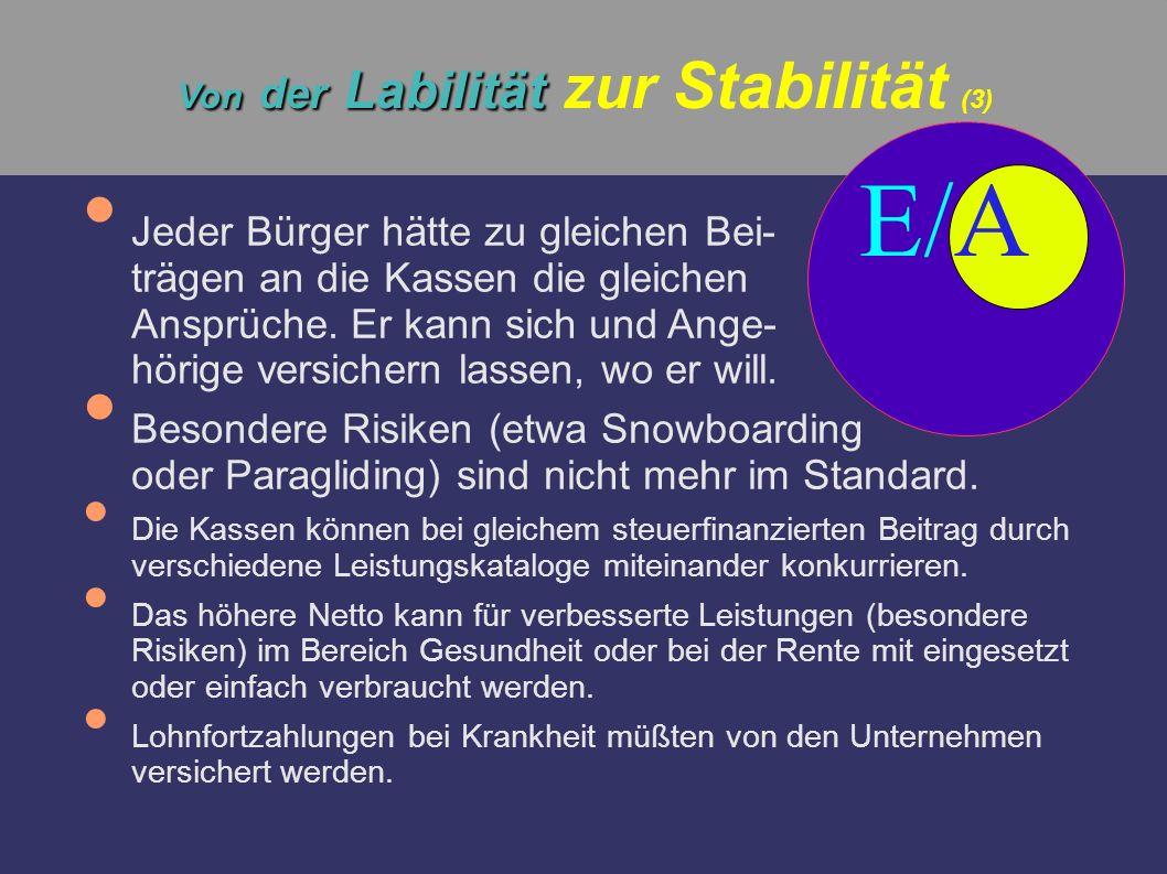Von der Labilität zur Stabilität (3)