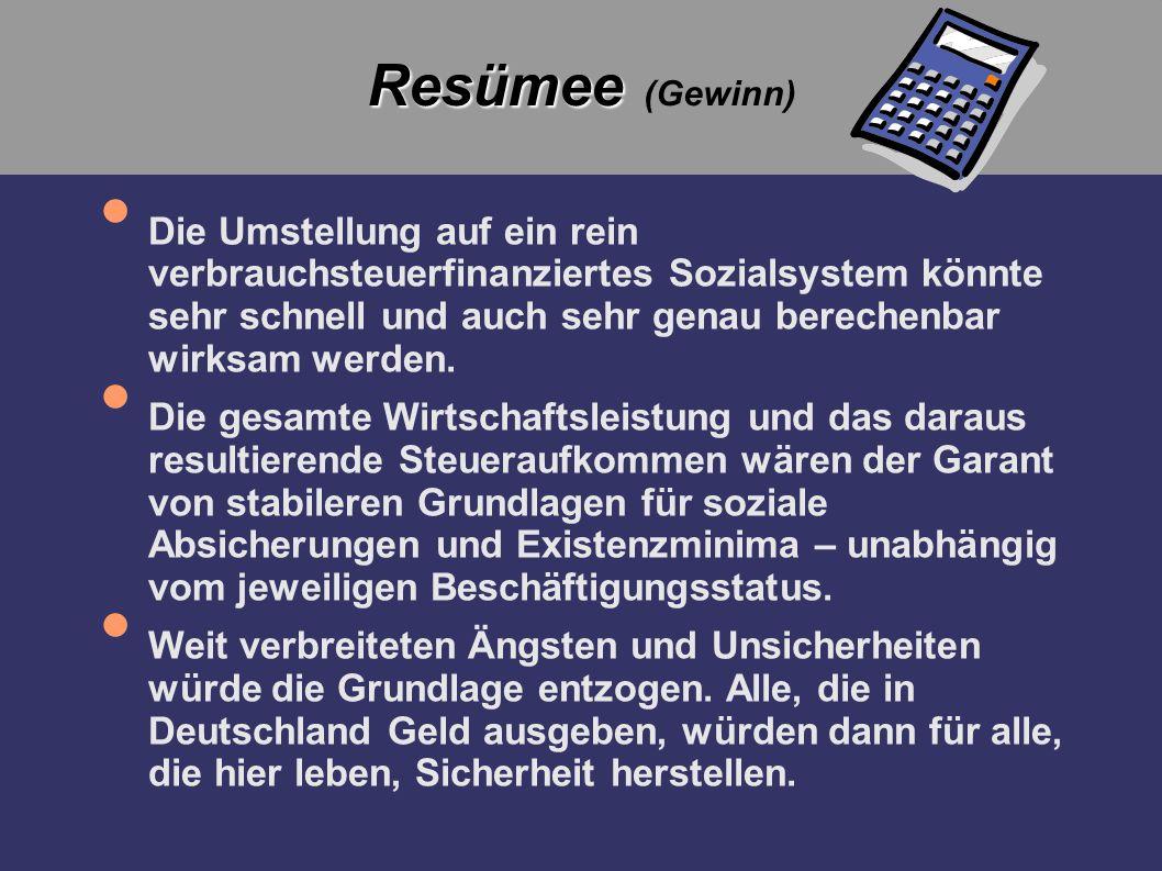 Resümee (Gewinn)