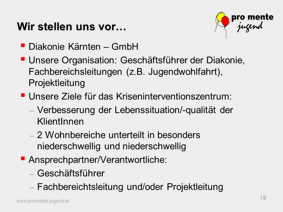 Wir stellen uns vor… Diakonie Kärnten – GmbH