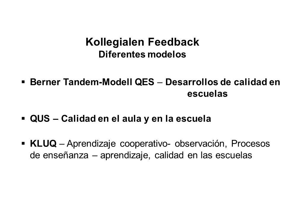 Kollegialen Feedback Diferentes modelos