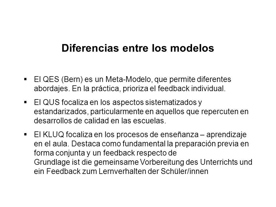Diferencias entre los modelos