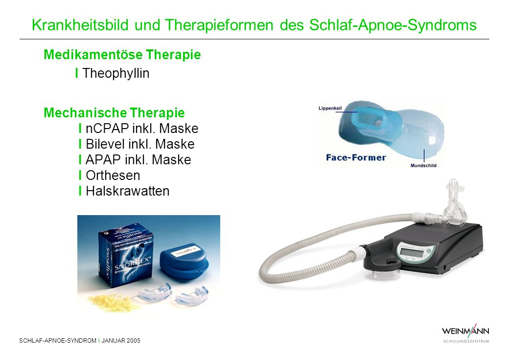 Mechanische Therapie I nCPAP inkl. Maske I Bilevel inkl. Maske
