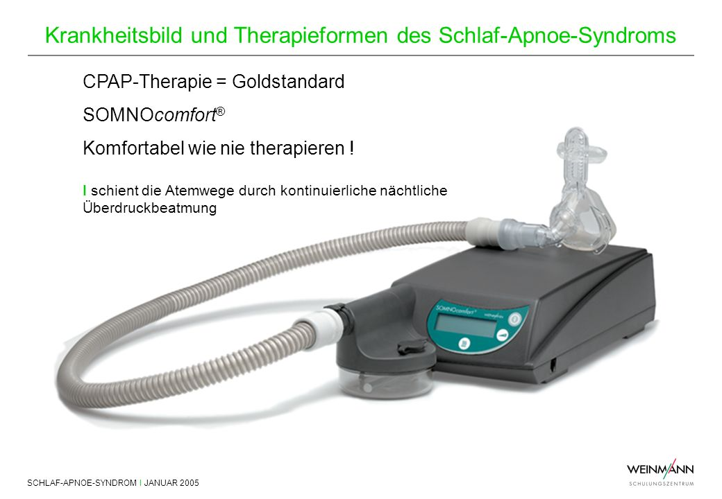 CPAP-Therapie = Goldstandard SOMNOcomfort®