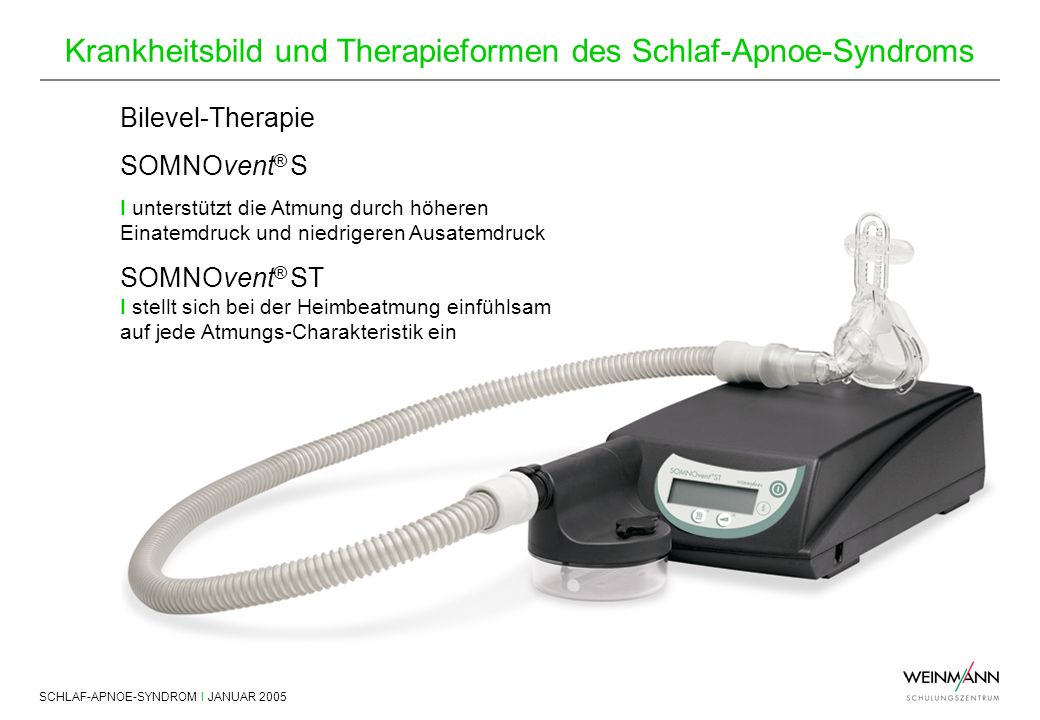 Bilevel-Therapie SOMNOvent® S SOMNOvent® ST