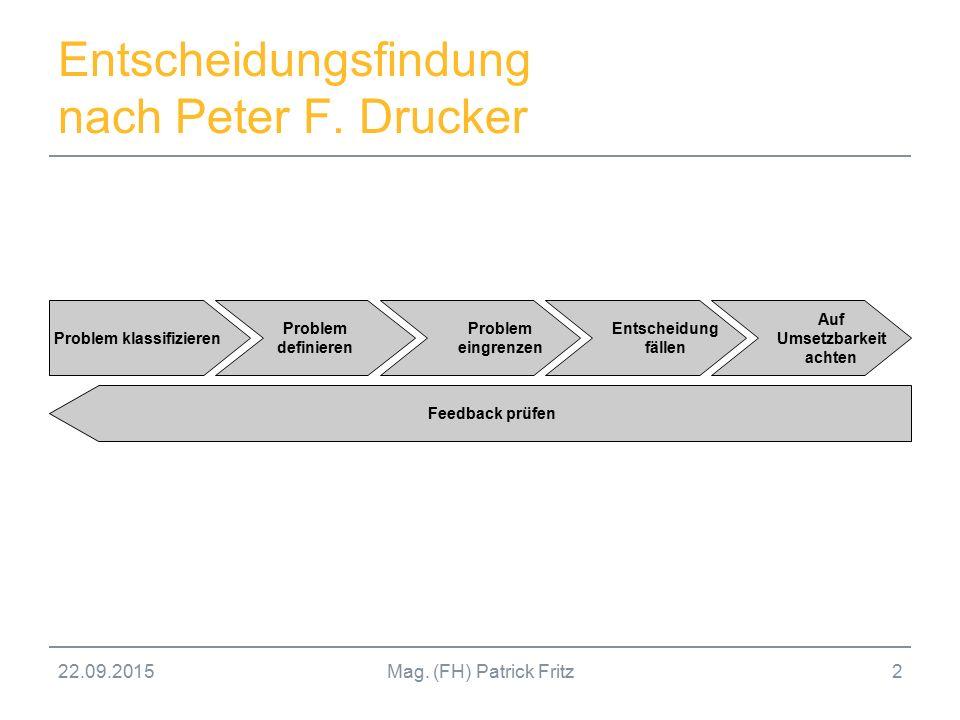 Entscheidungsfindung nach Peter F. Drucker