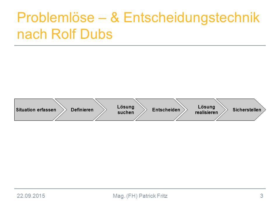 Problemlöse – & Entscheidungstechnik nach Rolf Dubs