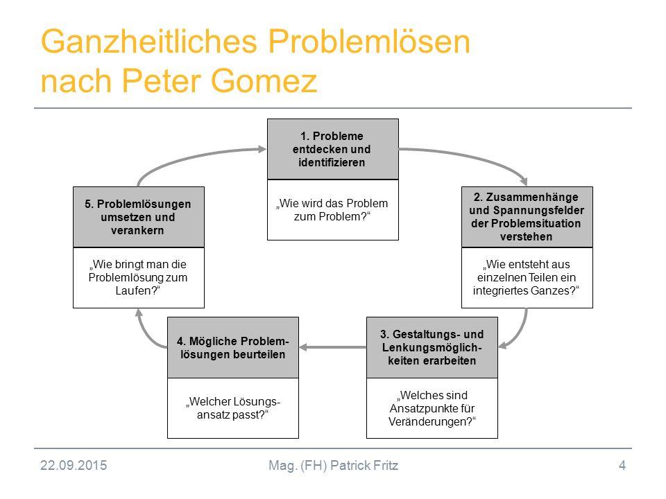 Ganzheitliches Problemlösen nach Peter Gomez