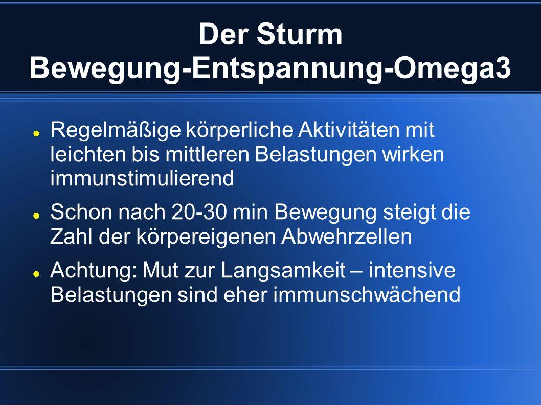 Der Sturm Bewegung-Entspannung-Omega3