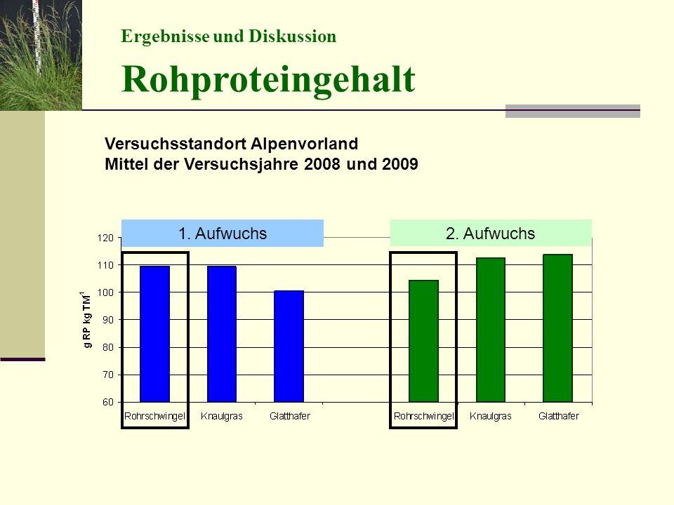 Rohproteingehalt Ergebnisse und Diskussion