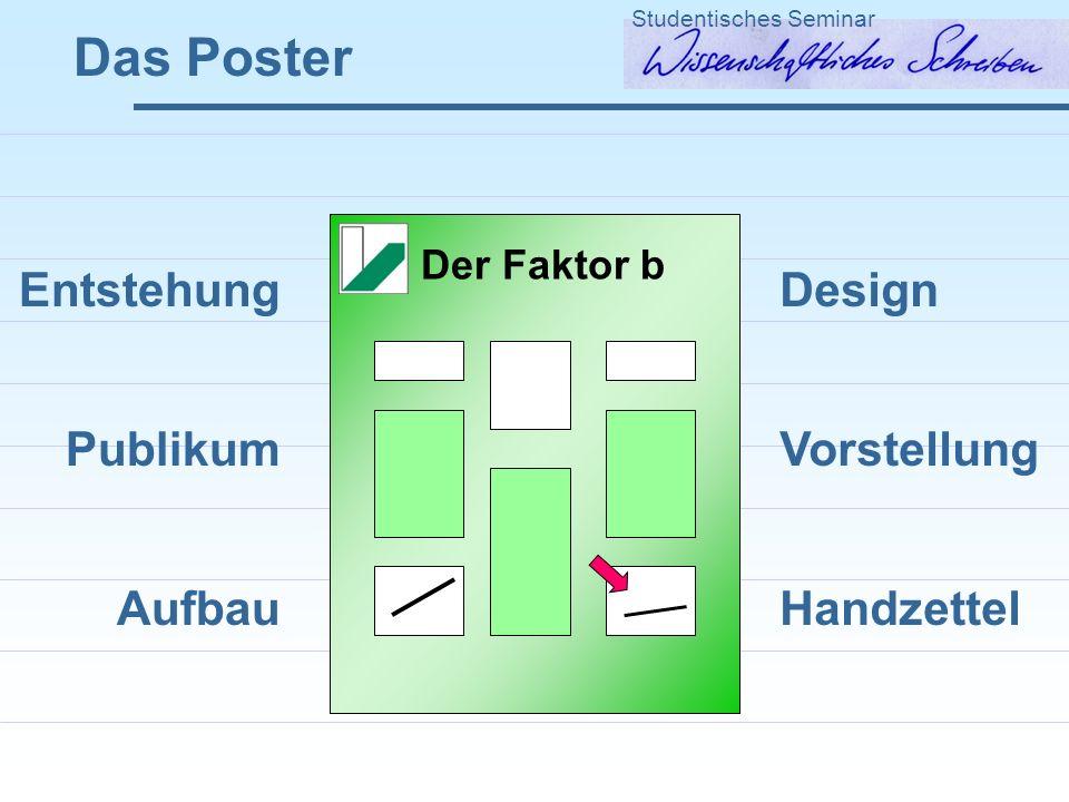 Das Poster Entstehung Publikum Aufbau Design Vorstellung Handzettel