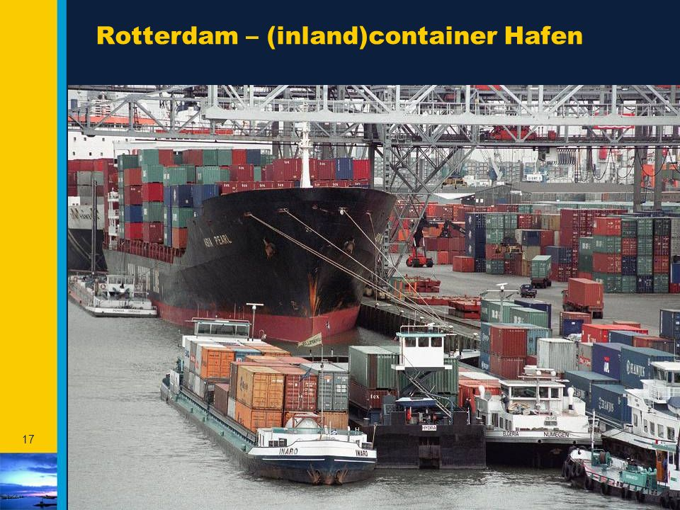 Rotterdam – (inland)container Hafen
