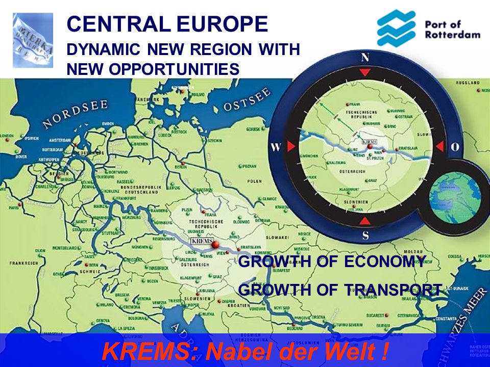 KREMS: Nabel der Welt ! CENTRAL EUROPE DYNAMIC NEW REGION WITH