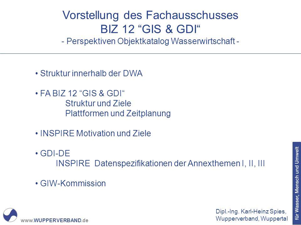 Vorstellung des Fachausschusses BIZ 12 GIS & GDI