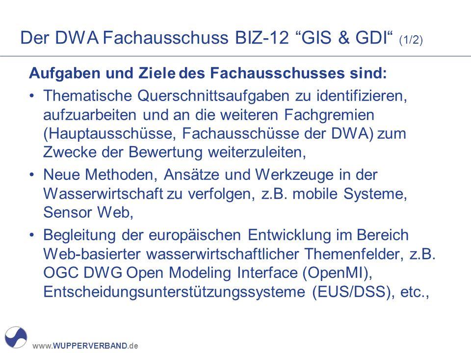 Der DWA Fachausschuss BIZ-12 GIS & GDI (1/2)