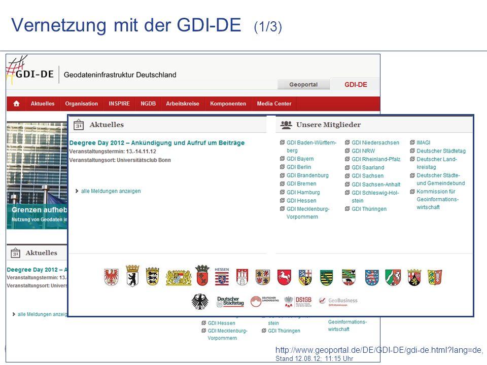 Vernetzung mit der GDI-DE (1/3)