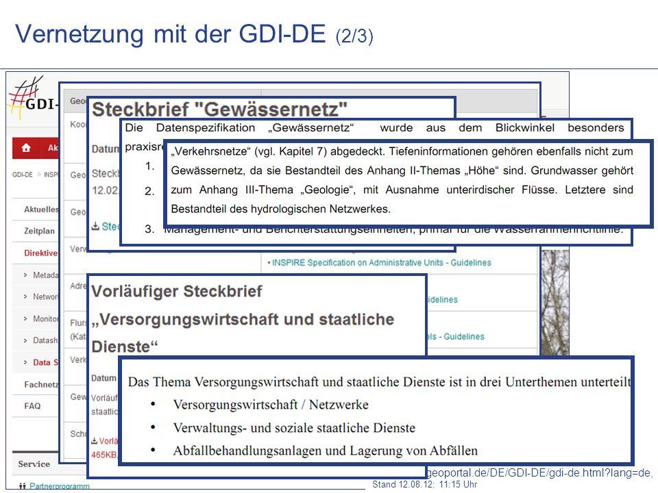 Vernetzung mit der GDI-DE (2/3)