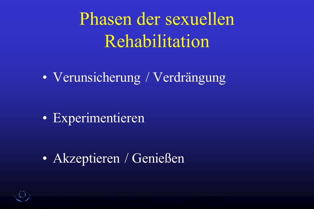 Phasen der sexuellen Rehabilitation