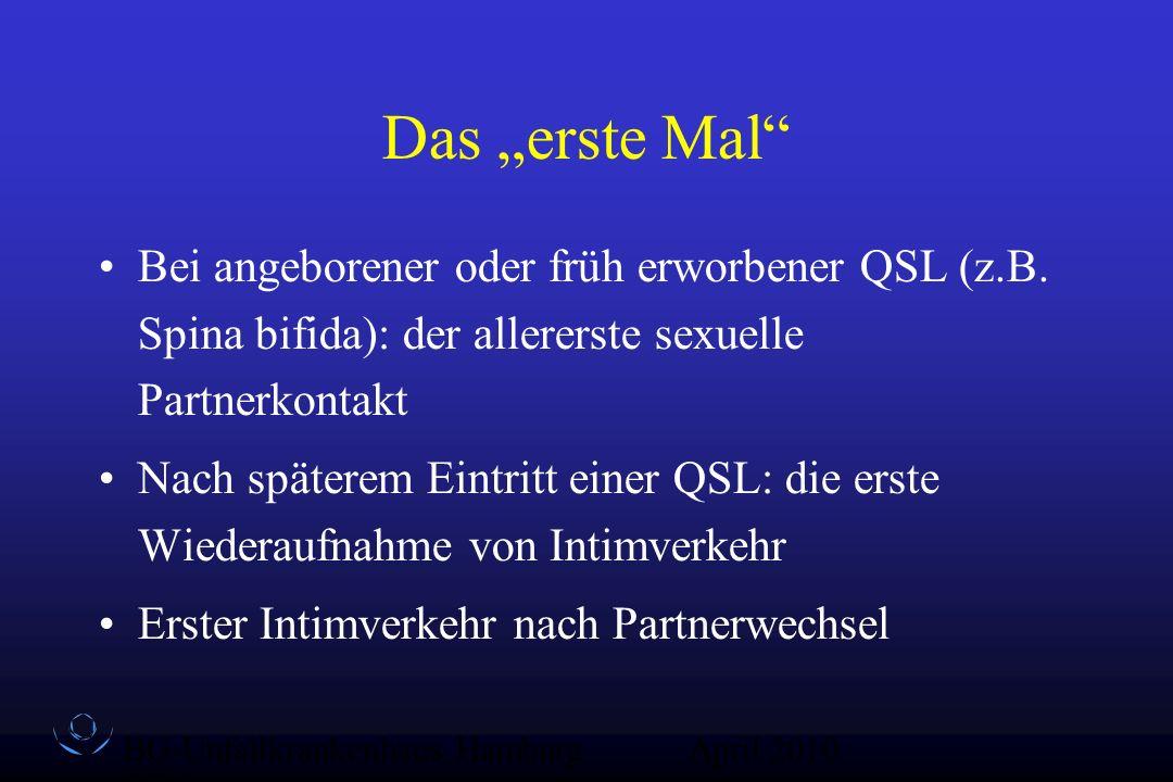 """Das """"erste Mal Bei angeborener oder früh erworbener QSL (z.B. Spina bifida): der allererste sexuelle Partnerkontakt."""
