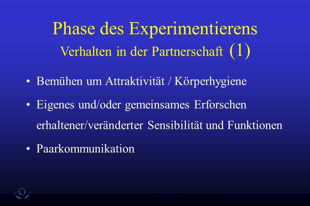 Phase des Experimentierens