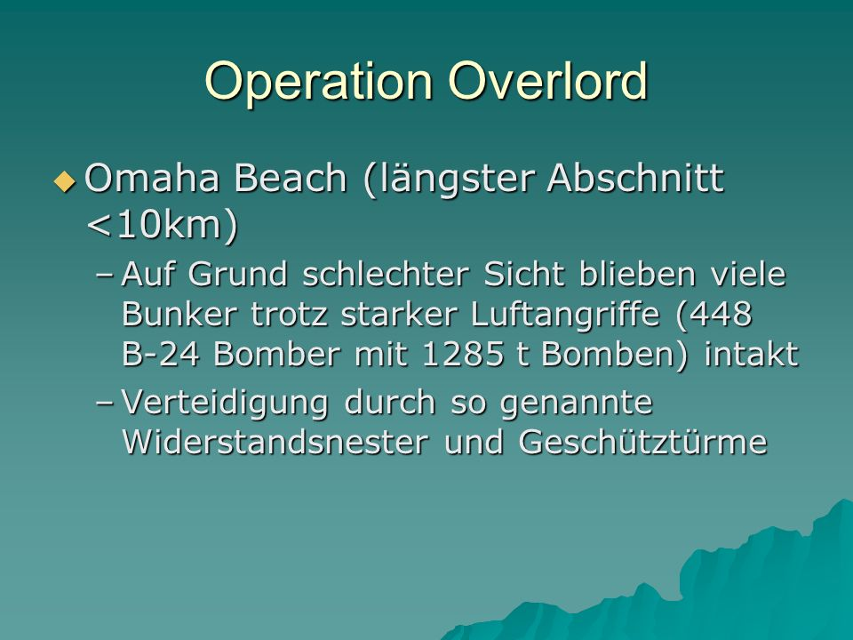 Operation Overlord Omaha Beach (längster Abschnitt <10km)