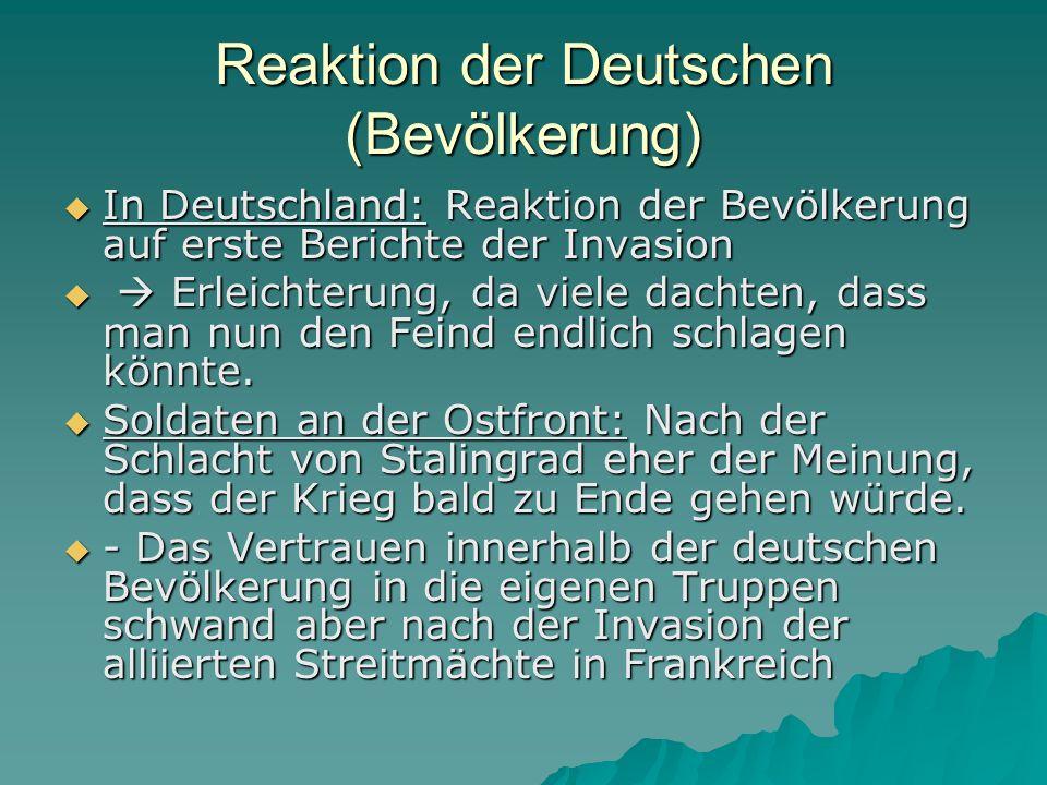 Reaktion der Deutschen (Bevölkerung)