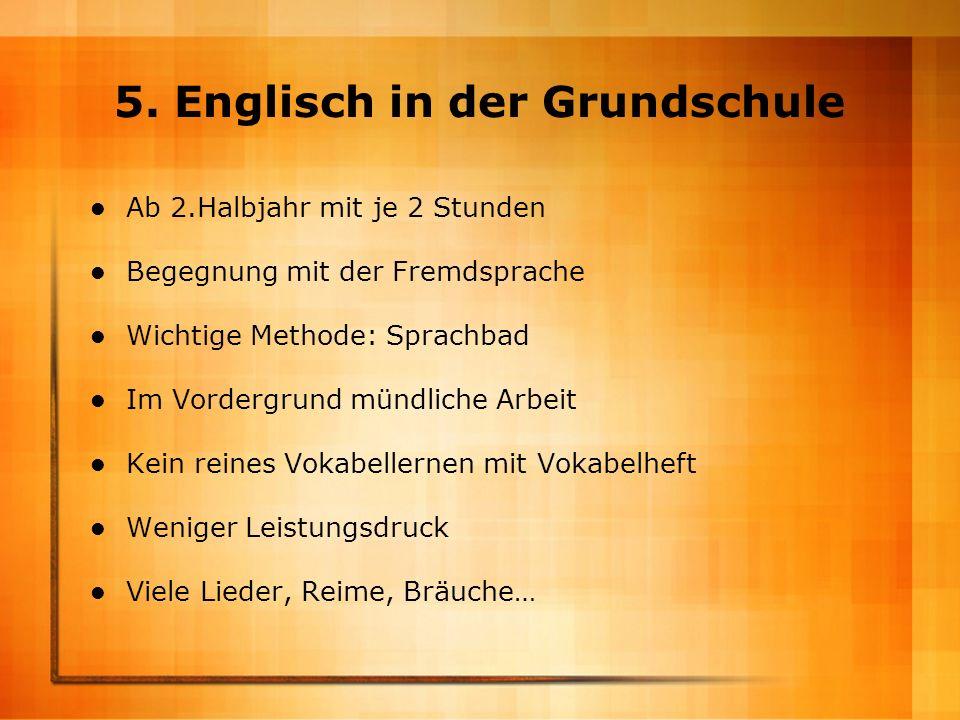 5. Englisch in der Grundschule