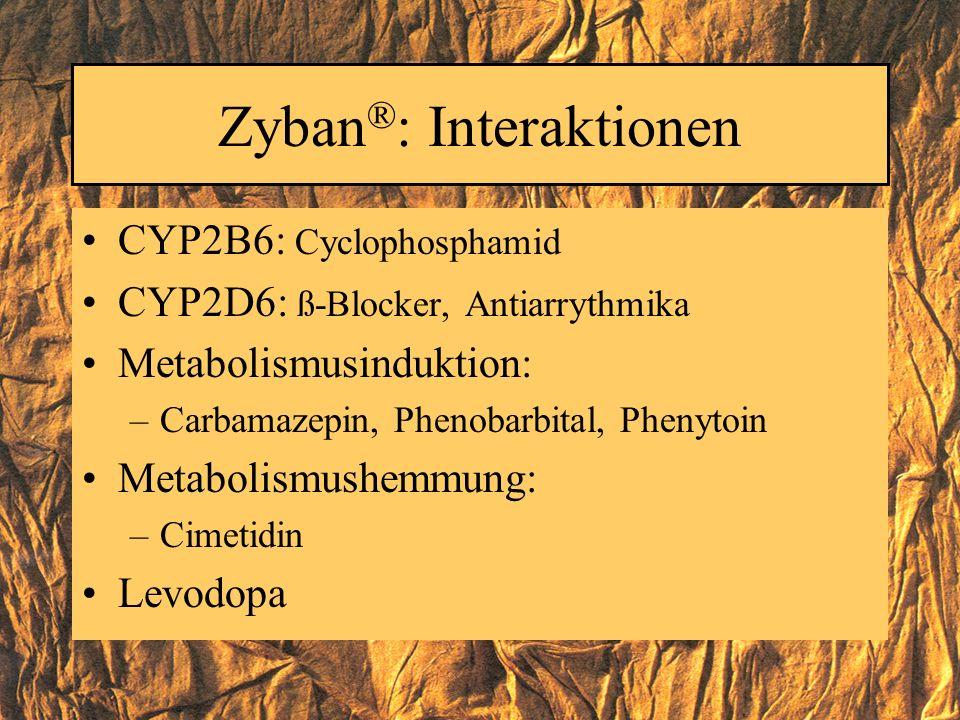 Zyban®: Interaktionen