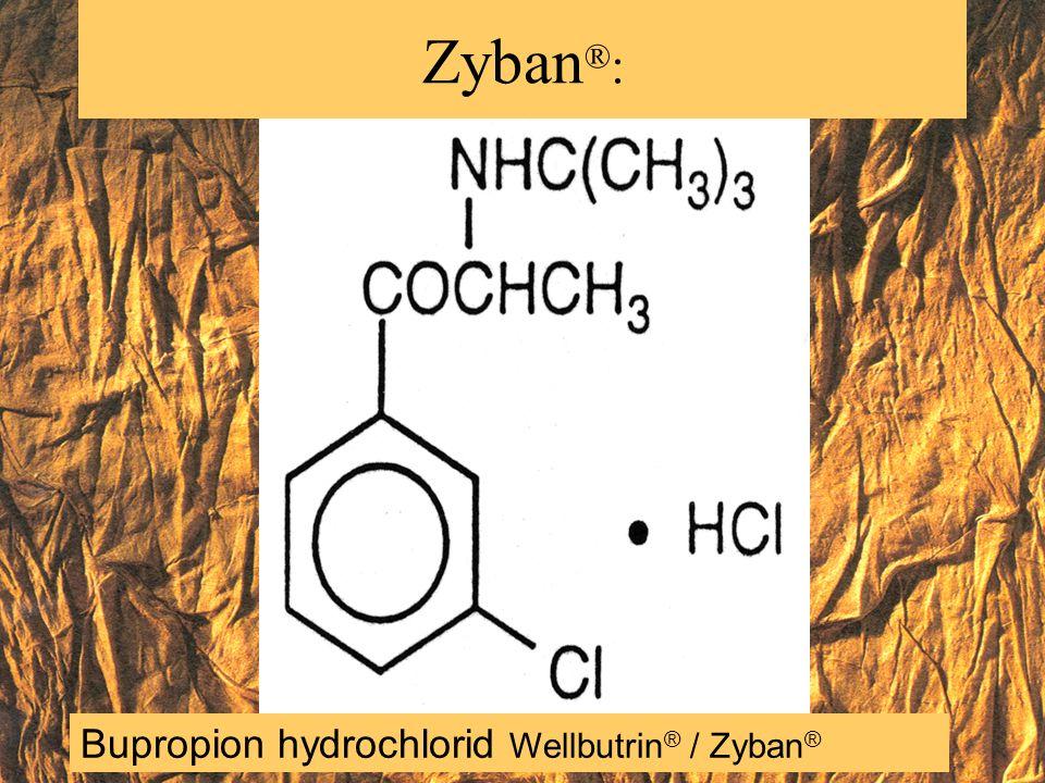 Zyban®: Bupropion hydrochlorid Wellbutrin® / Zyban®