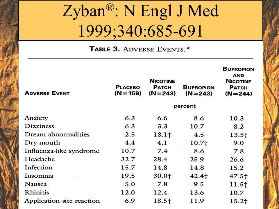 Zyban®: N Engl J Med 1999;340:685-691