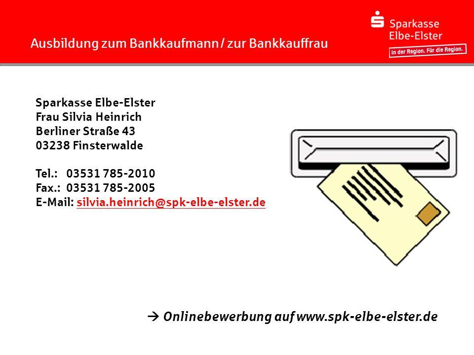 Ausbildung zum Bankkaufmann / zur Bankkauffrau