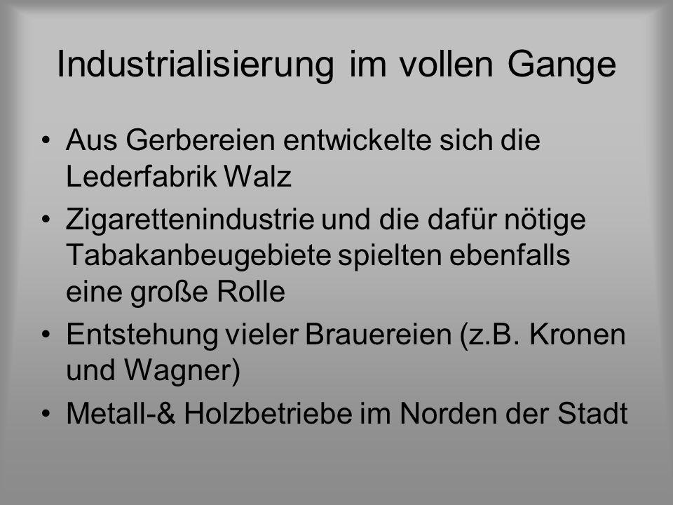 Industrialisierung im vollen Gange