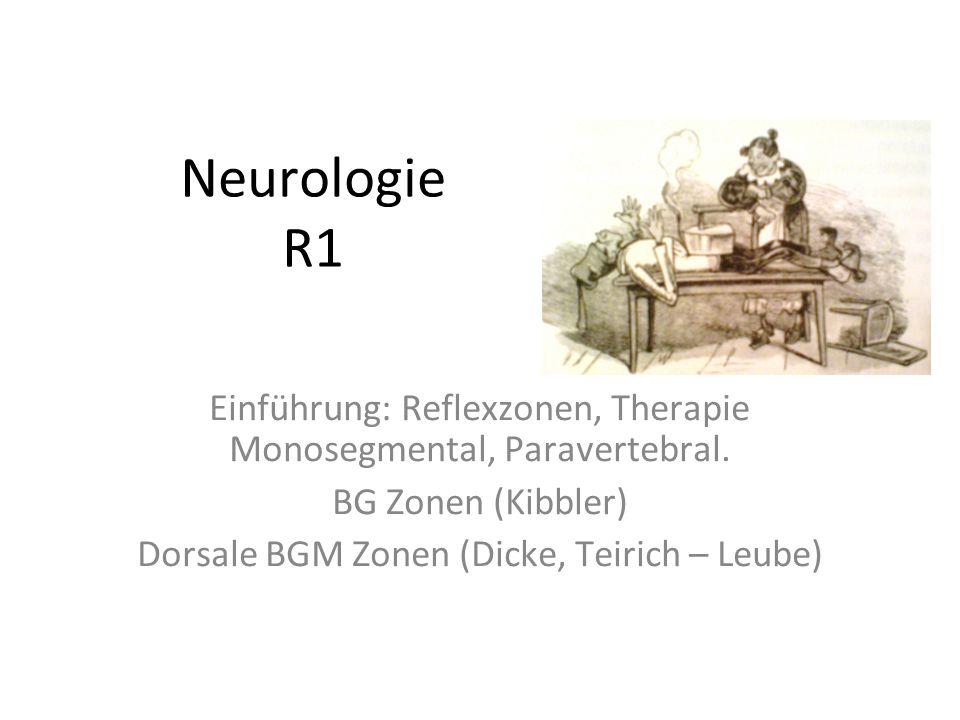 Neurologie R1 Einführung: Reflexzonen, Therapie Monosegmental, Paravertebral.