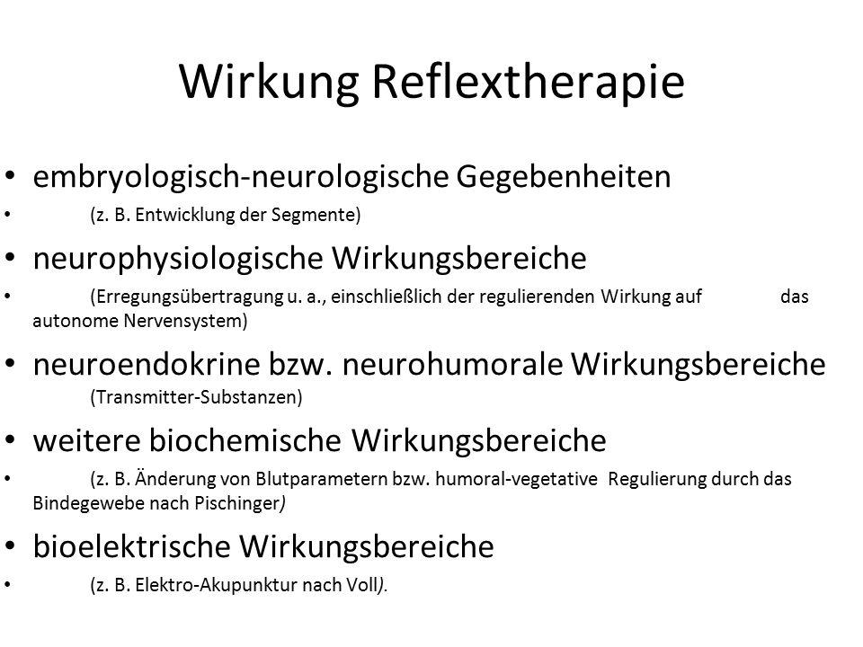 Wirkung Reflextherapie