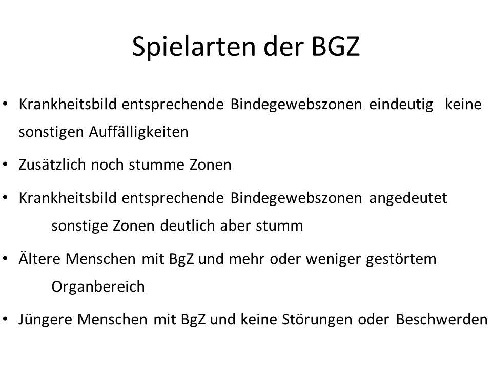 Spielarten der BGZ Krankheitsbild entsprechende Bindegewebszonen eindeutig keine sonstigen Auffälligkeiten.