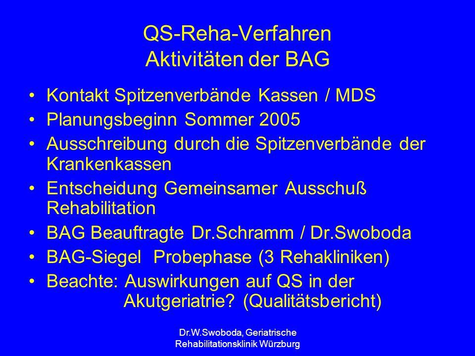 QS-Reha-Verfahren Aktivitäten der BAG