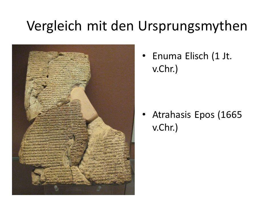 Vergleich mit den Ursprungsmythen