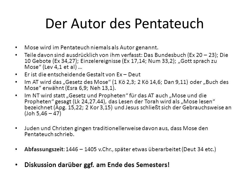 Der Autor des Pentateuch