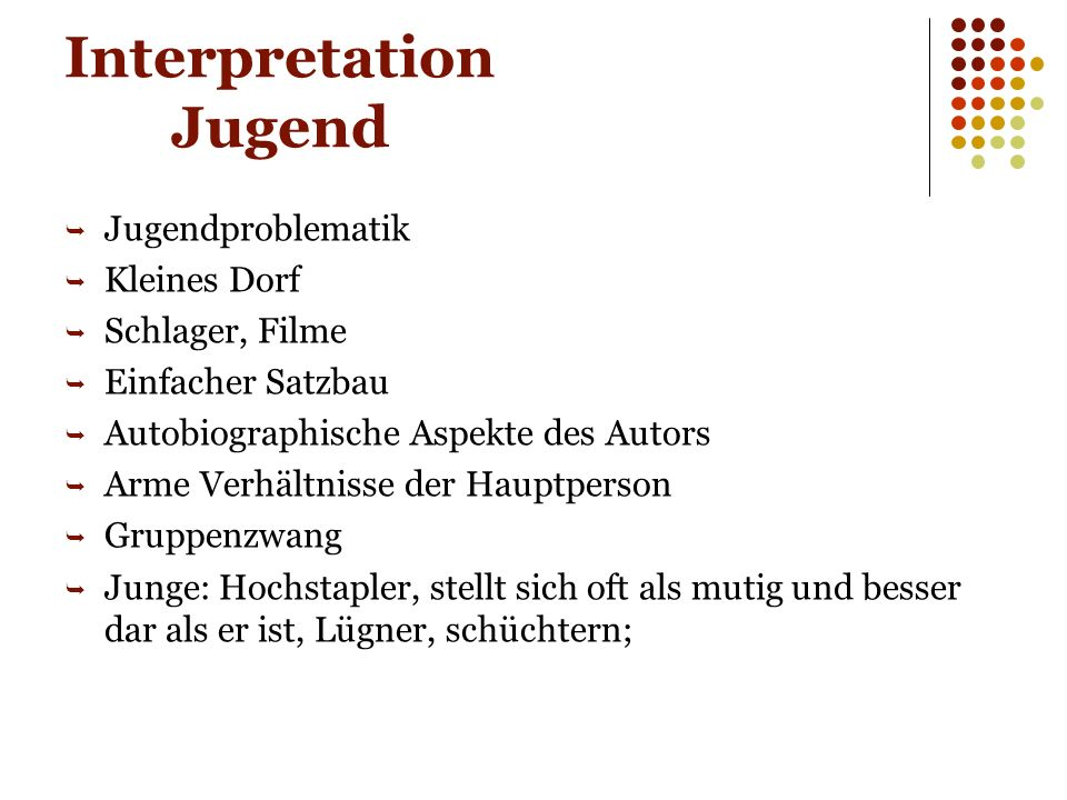 Interpretation Jugend